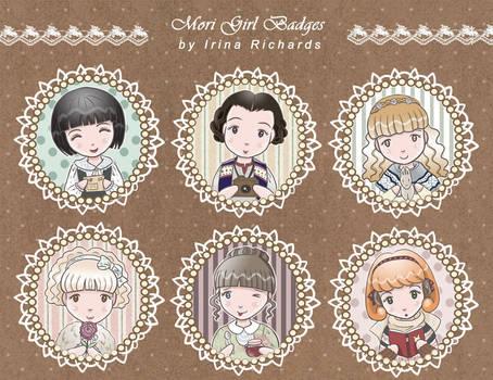 Mori Girl Badges