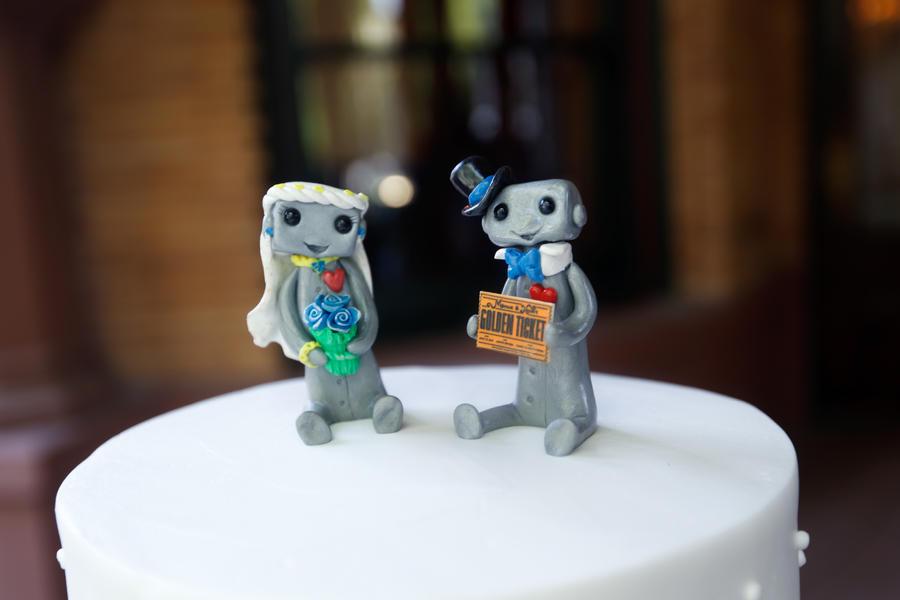 Artist Wedding Cake Toppers : Robot Wedding Cake Toppers 1 by sleepyrobot13 on DeviantArt