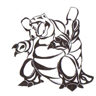 Blastoise Tribal by Raven-the-Nyx