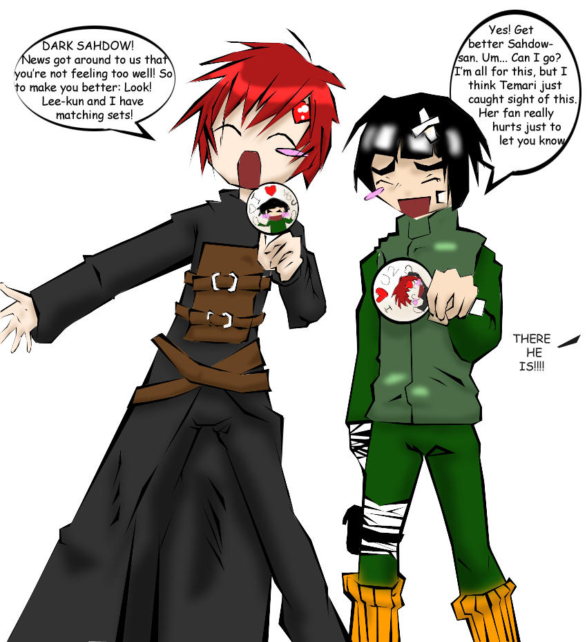 Gaara And Lee For Dark Sahdow by ZelgadisG on DeviantArt Gaara And Lee