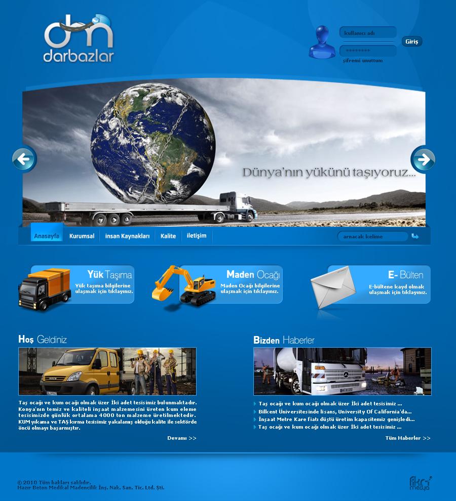 Darbazlar  Web interfaces by omeruysal