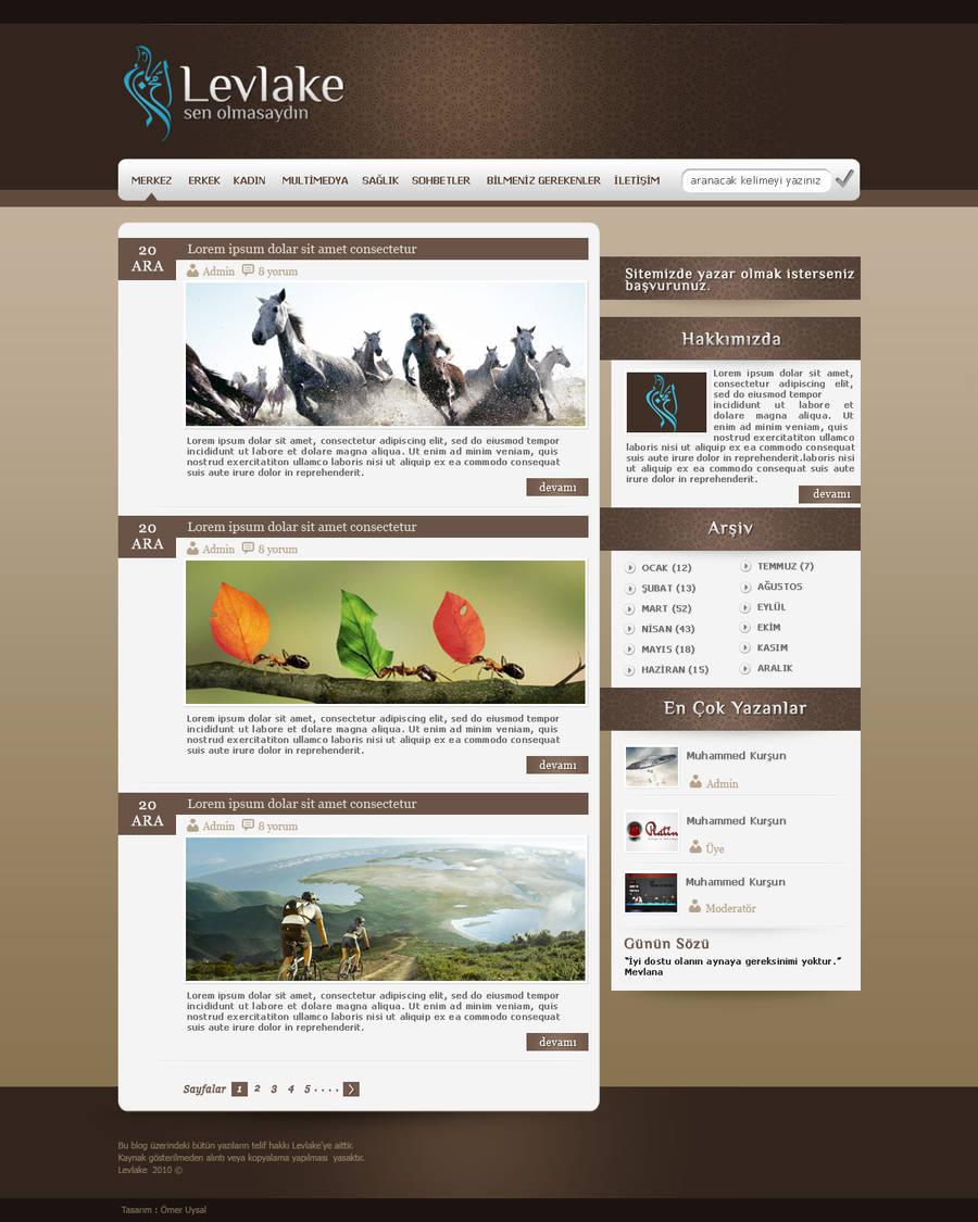 Levlake Blog Design by omeruysal