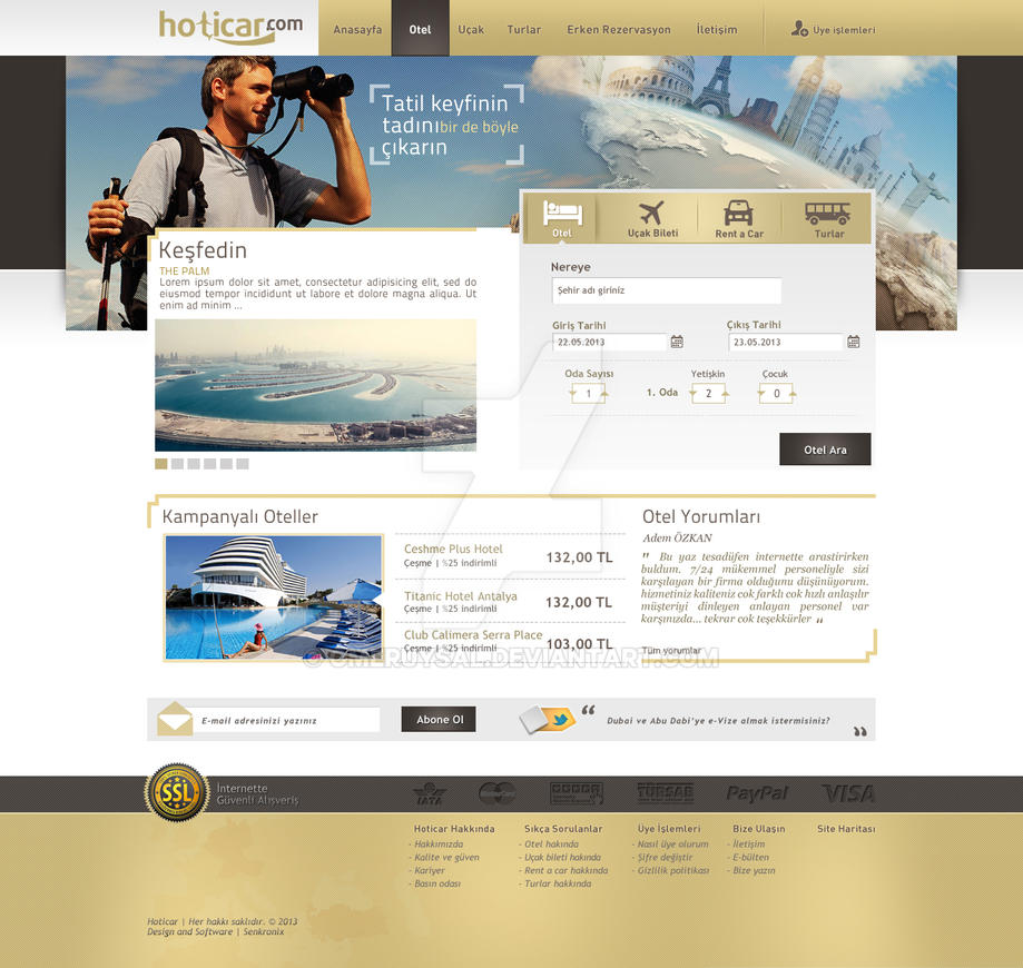 Travel Website by omeruysal