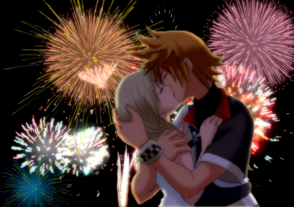 VenNami Kiss On The Background Of Fireworks Ver 2 By NamineMermaid