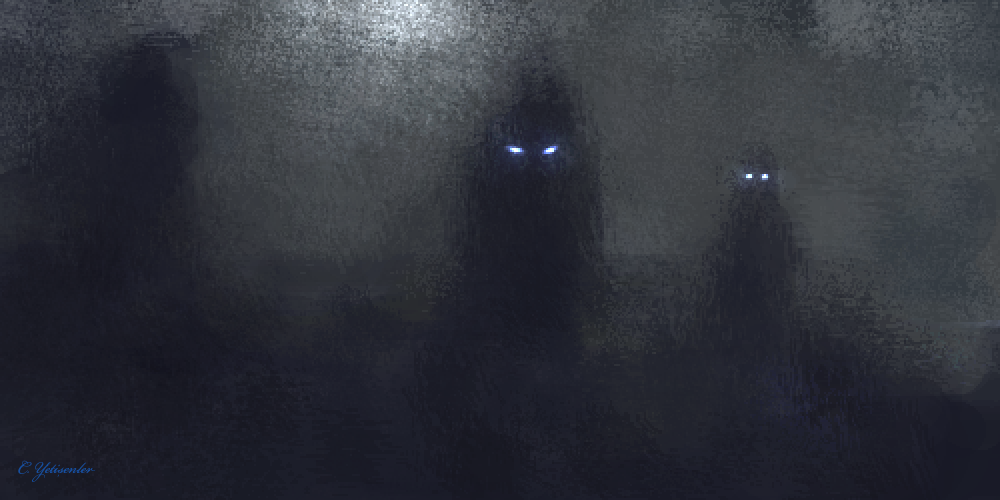 Animals wolf wolves predator fantasy mood emotion art fog mist ...