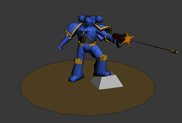Adeptus Astartes - Low Poly 3D by TheodenN