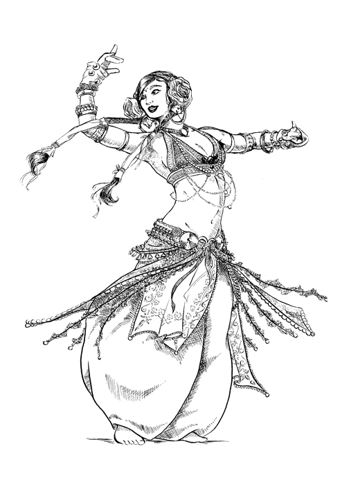 Belly Dancer Coloring ...