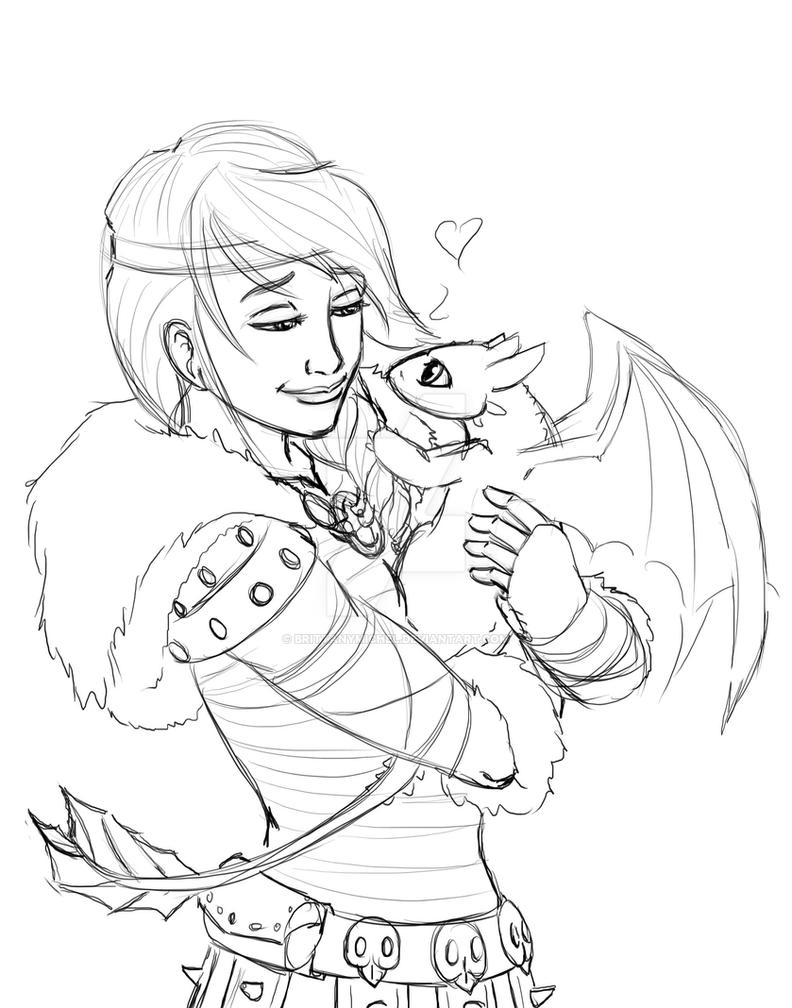 Hiccup And Astrid Coloring Pages