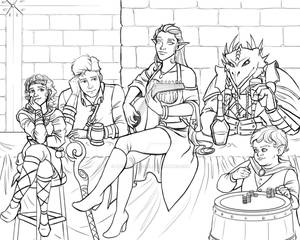 DnD Group Sketch Commission