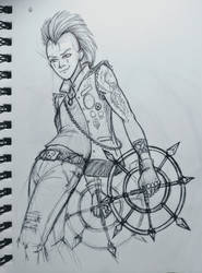 Axel Punk Doodle by BrittanyMichel