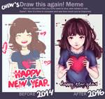Draw This Again: Jan. 2014 vs. Jan. 2016 by chewsome