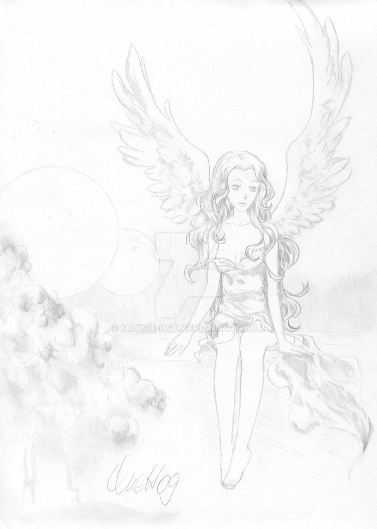 angel in the sky by Marsie-HST