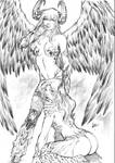 Angelus and Witchblade by CaioMarcus-ART