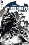 Catwoman and Batman - Blank Cover Skecth