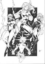 Captain Marvel - Ink by CaioMarcus-ART