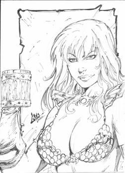 Red Sonja - Sketch Card