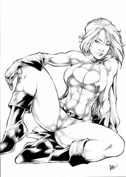Power Girl Ink - Commission