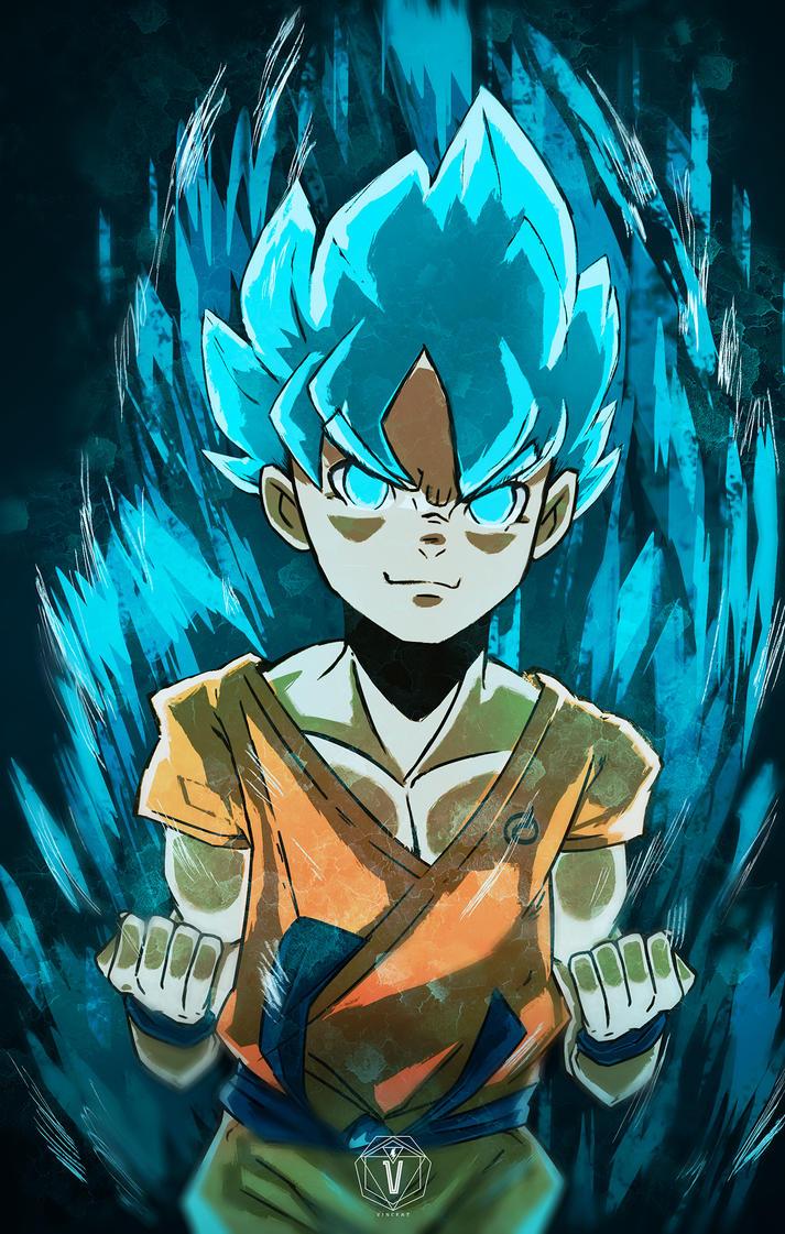 Goku SSJ God SSJ by Narutobigit