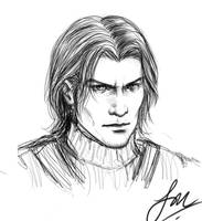 WIP: FF7 sketch :Angeal: by Cairisti