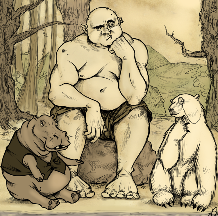 The Giant, the Hippo and the Polar Bear by Cairisti