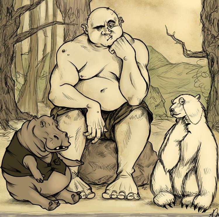 The Giant, the Hippo and the Polar Bear by Cairisti