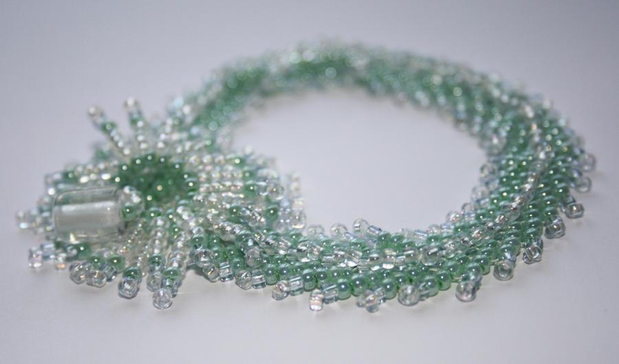 Mint Green Beaded Bracelet by fruits-basket-head