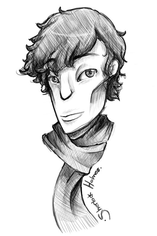 BBC Sherlock   line drawing by  fruits-basket-head on deviantARTBbc Sherlock Drawing