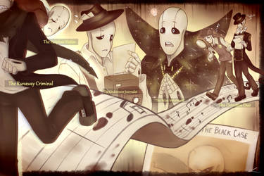 The Gaster Gang(+1) in The Black Case by Flotts