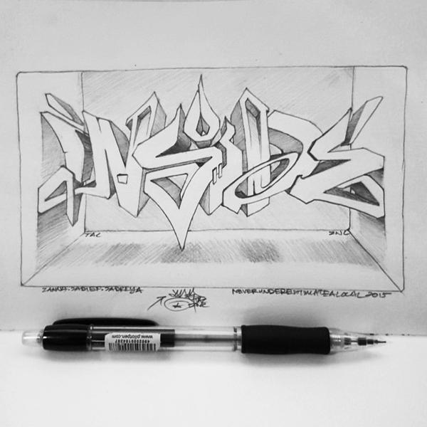 INSIDE   Pencil on paper   2015 by Syco03