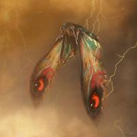 Mothra War by PiGeon-OC
