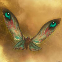 Mothra Flying Power by PiGeon-OC