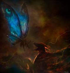 Mothra vs Rodan by PiGeon-OC