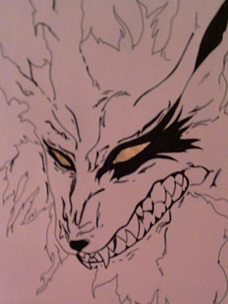 This is a photo of Ridiculous Demon Fox Drawing