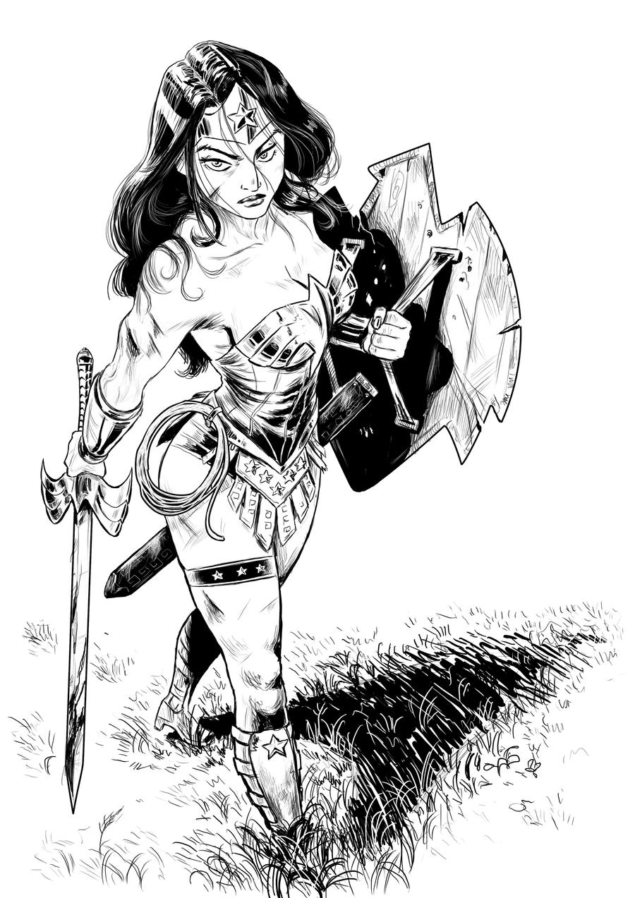 The Women Of Dc Comics Ink In Adam Withers S Dc Comics: Comission Warrior Wonder Woman