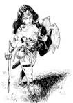 comission warrior wonder woman - ink