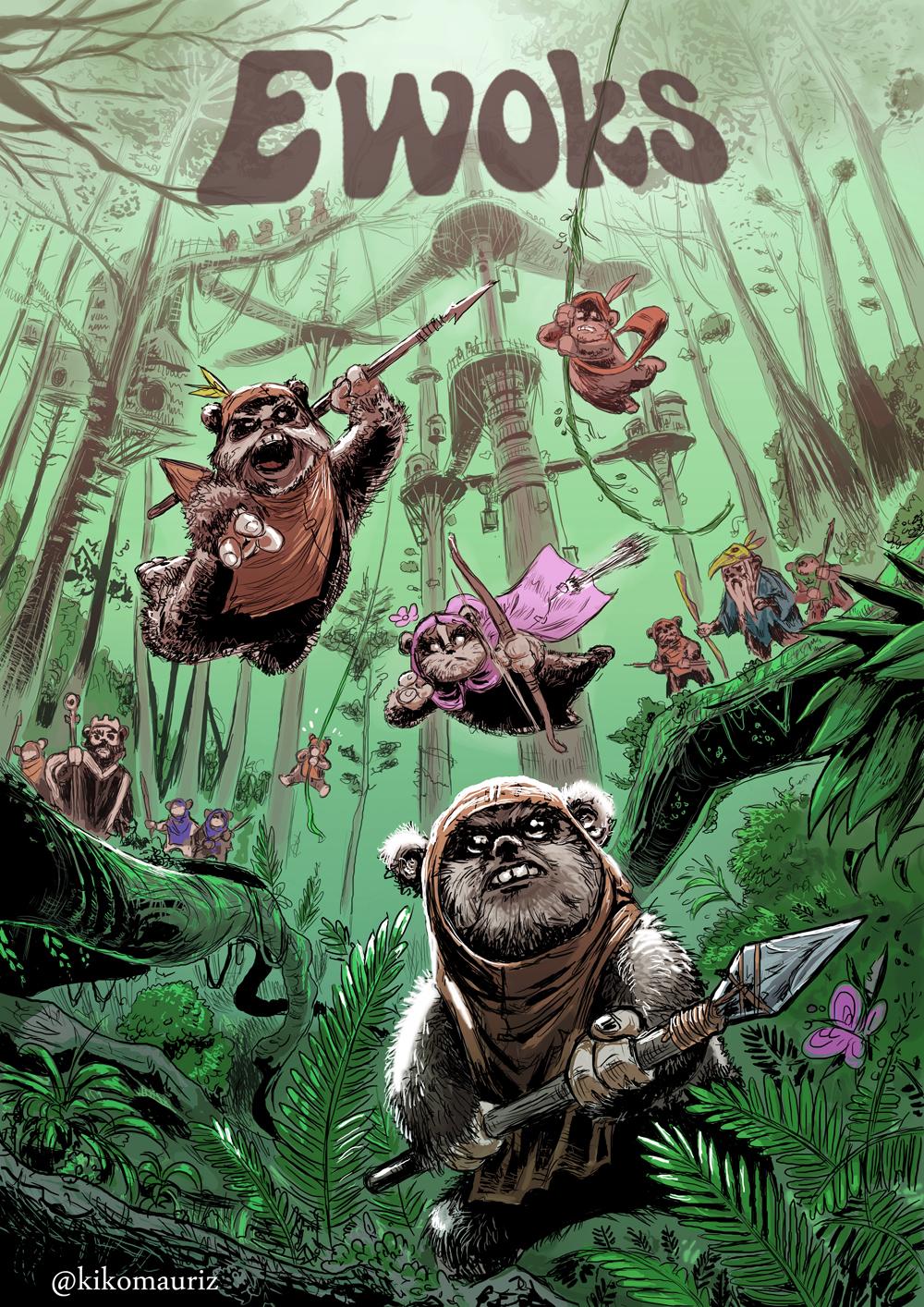 Ewoks by kikomauriz on deviantart - Ewok wallpaper ...