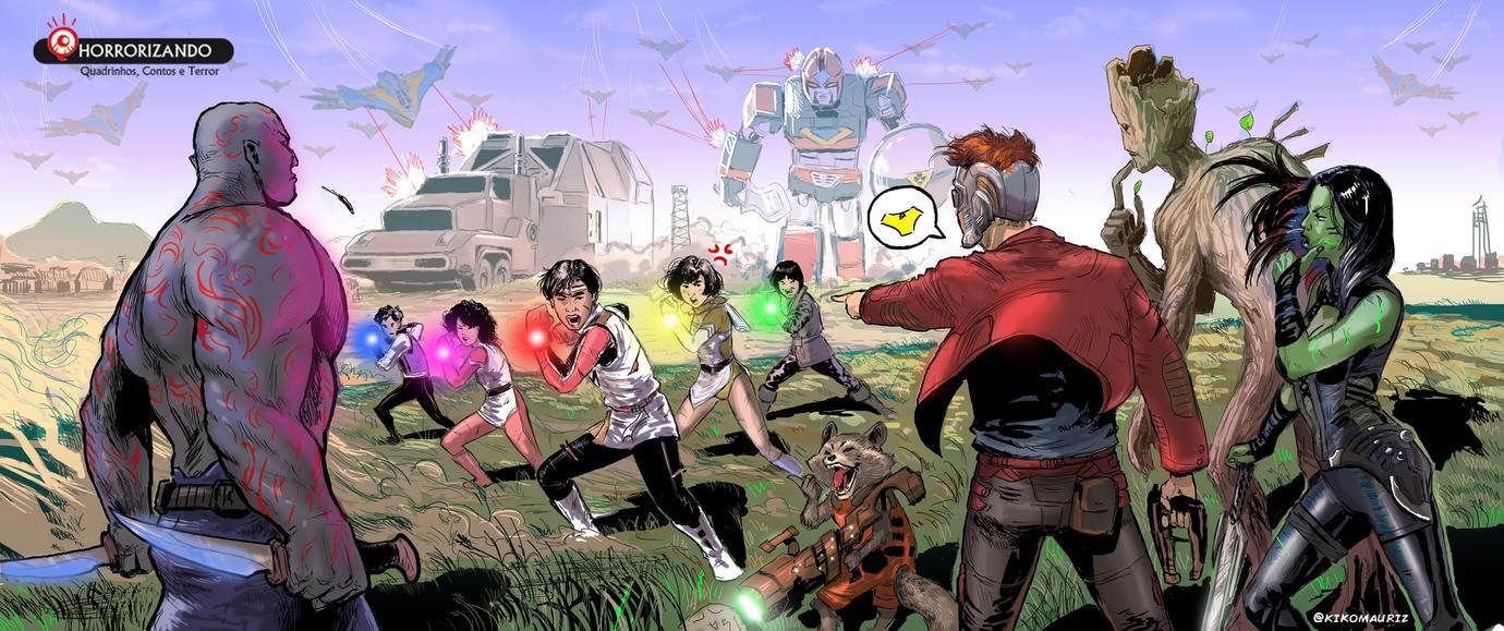 Flashman x Guardians of the galaxy by kikomauriz