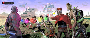 Flashman x Guardians of the galaxy
