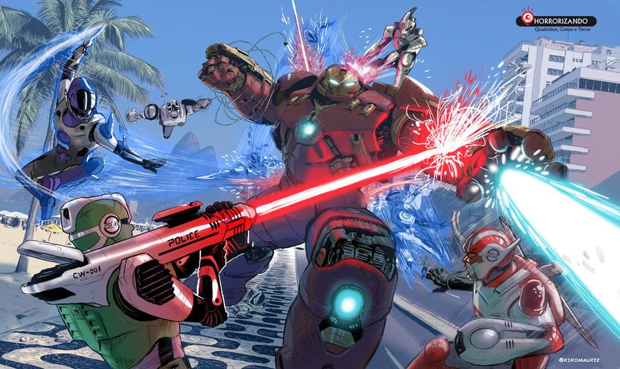 Hulkbuster vs Cybercops