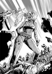 Harley Quinn BW