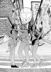 Pink Rangers by kikomauriz