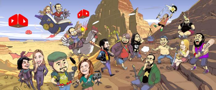 Brazilians youtubers by kikomauriz
