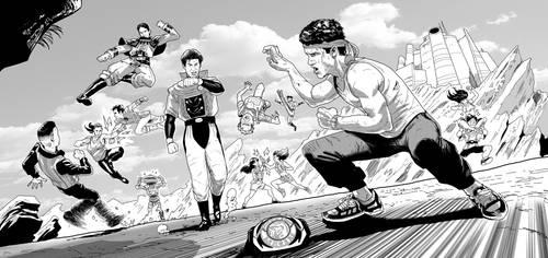 Power Rangers x Zyuranger by kikomauriz