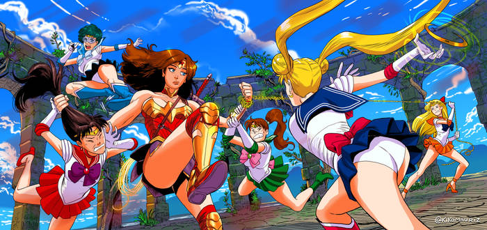 wonder woman vs sailor moon