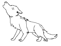 Male wolf lineart by Hydro-puppy7