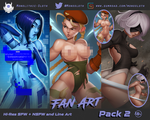 Fan Art Pack 2 - now available on Gumroad by Monolithic-Sloth