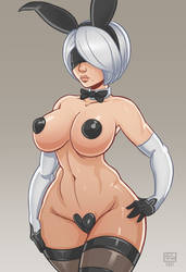 Bunny 2B pin-up 2 by Monolithic-Sloth