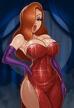 Jessica Rabbit pin-up