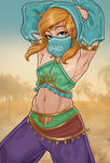 Gerudo Link pin-up by Monolithic-Sloth
