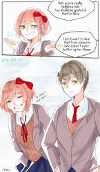 MC x Sayori Short Comic #3 by rrkkrkrr